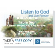 "HPLL - ""Listen To God And Live Forever"" - Table"