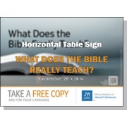 "HPBH - ""What Does The Bible Really Teach"" - Table"