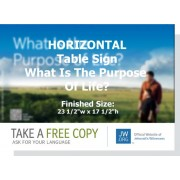 "HPPR - ""What Is The Purpose Of Life?"" - Table"