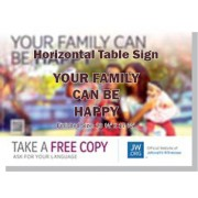 "HPHF - ""Your Family Can Be Happy"" - Table"
