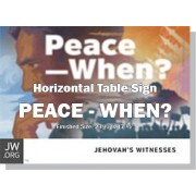 "HPPCE - ""Peace When?"" - Table"