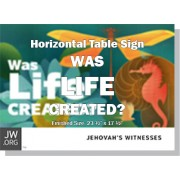 "HPWLC - ""Was Life Created?"" - Table"