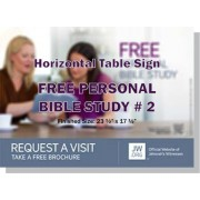 "HPBBS2 - ""Free Personal Bible Study # 2"" - Table"