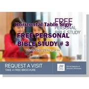 "HPBBS3 - ""Free Personal Bible Study # 3"" - Table"