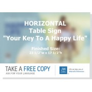 "HPRK - ""Real Faith - Your Key To A Happy Life"" - Table"