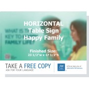 "HPT-32 - ""What Is The Key To Happy Family Life?"" - Table"