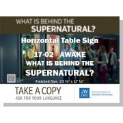"HPG-17.2 - 2017 Edition 2 - Awake - ""What Is Behind The Supernatural?"" - Table"
