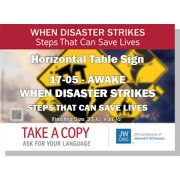 "HPG-17.5 - 2017 Edition 5 - Awake - ""When Disaster Strikes - Steps That Can Save Lives"" - Table"