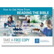 "HPWP-17.1 - 2017 Edition 1 - Watchtower - ""How To Get More From Reading The Bible"" - Mini"