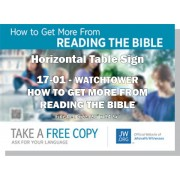 "HPWP-17.1 - 2017 Edition 1 - Watchtower - ""How To Get More From Reading The Bible"" - Table"