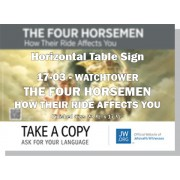 "HPWP-17.3 - 2017 Edition 3 - Watchtower - ""The Four Horsemen - How Their Ride  Affects You"" - Table"
